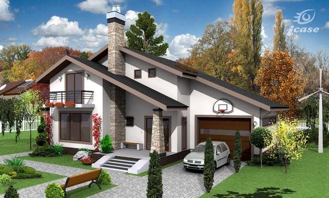 Articole o alta varianta la casa cu etaj ce028 for Modele de case fara etaj cu terasa