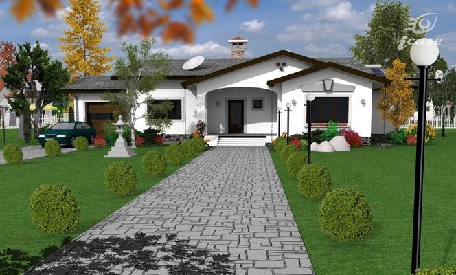 Detaliu proiect de casa casa parter cp 014 proiecte for Case parter 3 camere