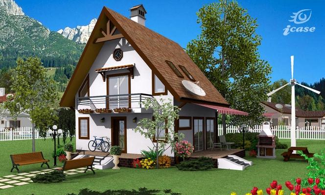 Detaliu proiect de casa casa cu etaj ce 002 proiecte for Proiect casa 100 mp fara etaj
