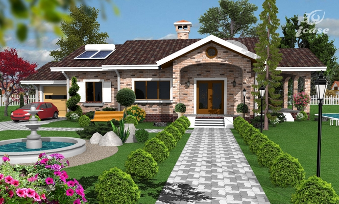 Detaliu proiect de casa casa parter cp 007 proiecte for Planuri de case