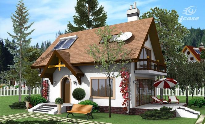 Detaliu proiect de casa casa cu etaj ce 004 proiecte for Planuri de case