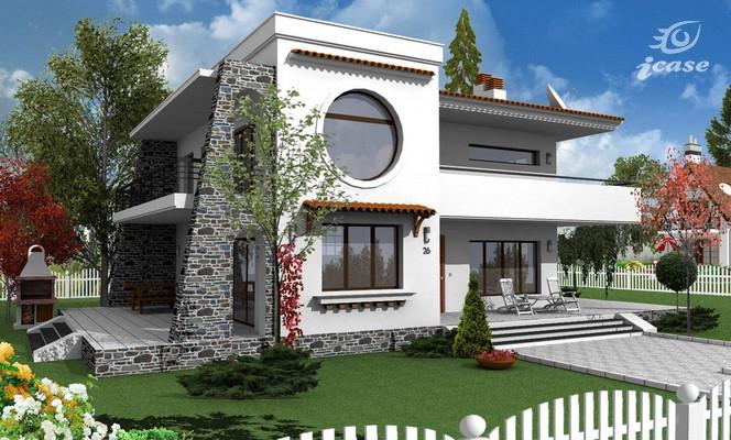 Detaliu proiect de casa casa cu etaj ce 010 proiecte for Case de vis cu etaj